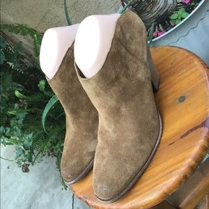 Dolce Vita Brown Suede Bootie Mules Size 8.5